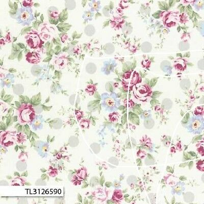 Princess Rose TL31265-90 Lecien 100% Cotton Fabric/Quilting/Patchwork