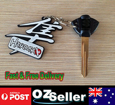 Motorcycle Blanks Key Uncut Blade For Suzuki with Hayabusa Key Chain Keyring