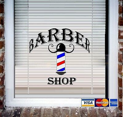 Barber Shop ~ Wall Decal or Store Front Window Decal
