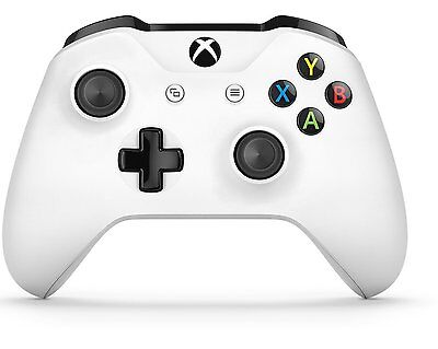 White Genuine Microsoft Xbox One S Wireless Controller