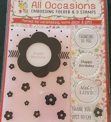 All occasions Embossing folder & 9 Stamps Set