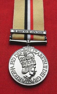 Medals - Op Telic Iraq Medal With Clasp Full Size.