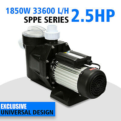 2.5Hp Swimming Pool Pump Commercial Spa Removable Basket Chlorine Compatible