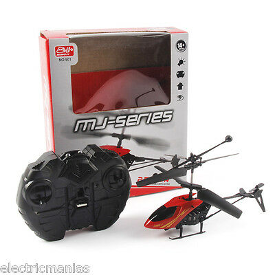 Mini RC Radio Control Helicopter 2.5CH Night Flight w/Gyro System Kids Toys Gift