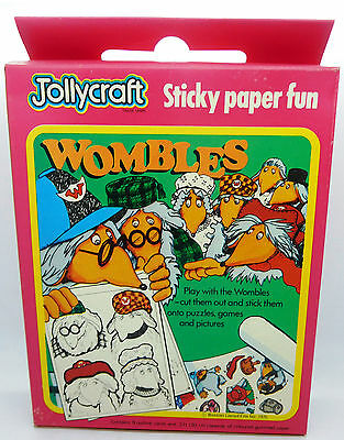 Vintage The Wombles Jollycraft Sticky Paper Fun 1975 New Cards