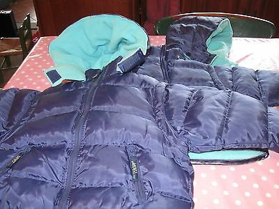 12-18 months Blue Padded Coat with detachable sleeves and hoods