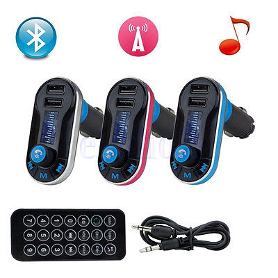 Bluetooth FM Transmitter MP3 Player Car Kit USB Charger Remote SD TF WS