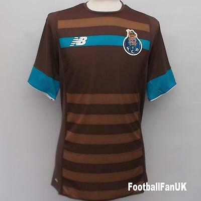 FC PORTO New Balance Away Shirt 2015/16 NEW S,M,L,XL,XXL Brown Jersey Camisa