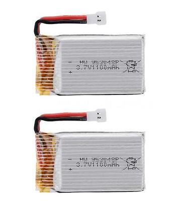 2x 3.7V 1100mah 25C 1S VOLT 30C Lipo Battery For Syma X5SC X5SW