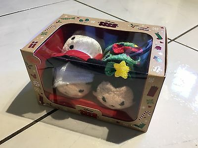 Disney Store Tsum Tsum New Release - Boxed Christmas Mickey And Minnie