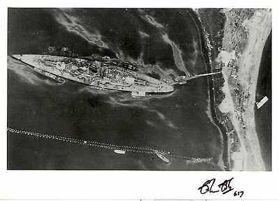 Tirpitz photo signed WW2 WWII Colin COLE 617 Squadron RAF