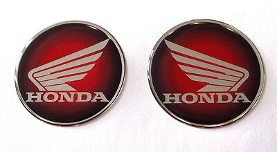 Honda Wings stickers/decals-60mm Red to Black Fade -HIGH GLOSS DOMED GEL FINISH