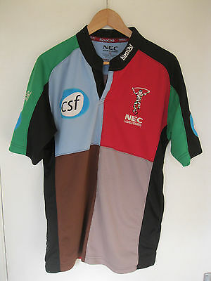 Harlequins NEC Kooga Rugby Union 2004 Home Shirt Jersey. UK Adult Size Small