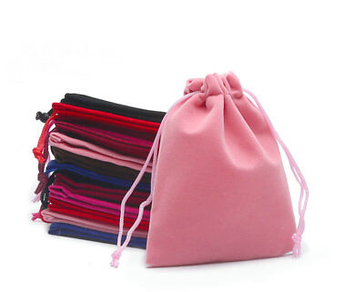 High Quality Gift Pouch  Bags with Cotton Drawstring VELVET Jewellery pouch 002