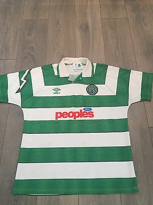 Celtic Home Shirt 1991/92 Large Rare And Vintage