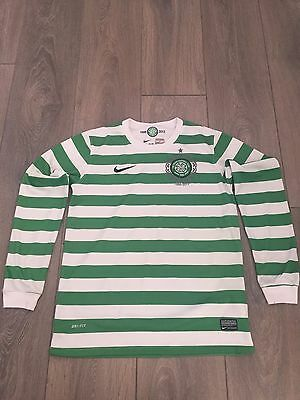 Celtic Home Shirt 2012/13 125 Year Anniversary Long Sleeved Large Youths Rare