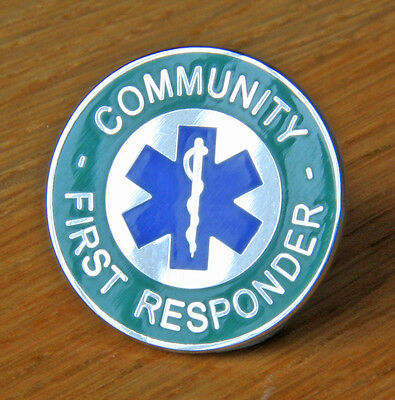 Ambulance Community First Responder Star Of Life Pin Badge