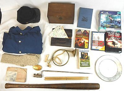 Lot of Civil War Reenactment Items & Other Items Related to the Civil War