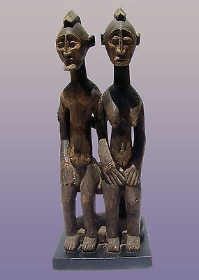 "African Dogon Primordial Couple from Mali 29"" tall including stand"