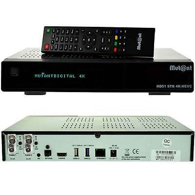 Mut@nt 2x DVB-CT2 Twin Mutant ULTRA HD HD51 2160p 4K-BOX E2 Linux Receiver  HDMI