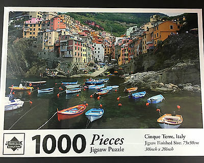 Cinque Terre Italy Jigsaw Puzzle 1000 Pieces Toy Craft Xmas Gift 30x20inch