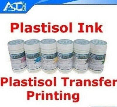 Plastisol Heat Transfer Screen Printing Ink 6 Colors 200g