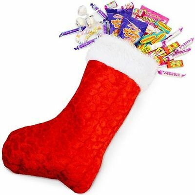 Deluxe Father Christmas Santa Sack Red Stocking Bag Gift Presents Xmas Toy 45Cm