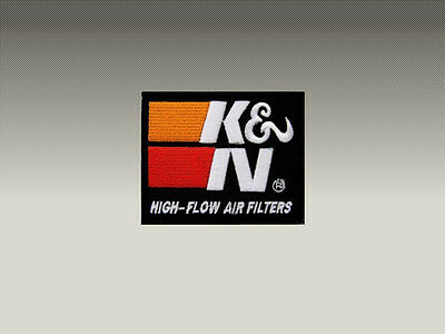 K&N High Flow Air Filters Toppa Patch Ricamata Termoadesiva