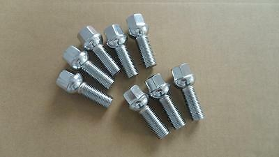A set of 20 Lug Bolts Cone 14x1.5 45mm Shank 72mm tail  Mercedes E S SL CL CLS