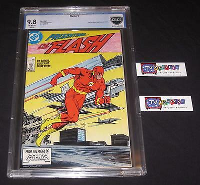 Flash #1 CBCS 9.8 NM/MINT OW/WHITE PAGES from 1987 Hit TV Show! Like CGC
