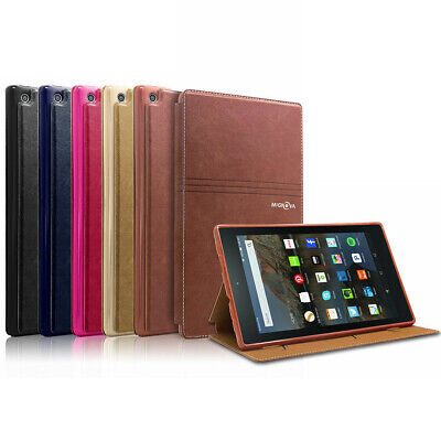 For All-New Amazon Fire HD 8 6 7 8th Gen Leather Stand Case Cover w/wake/Sleep