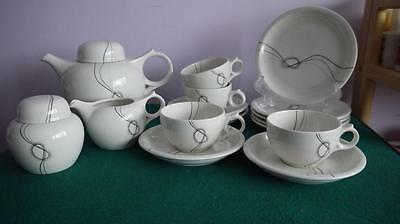 FABULOUS RARE 1980s MIDWINTER FORGET ME KNOT PART TEA SET EVE MIDWINTER V.G.COND