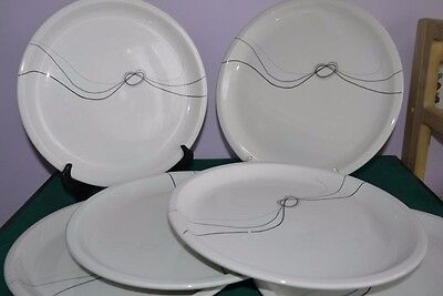 6 x FABULOUS RARE 1980s MIDWINTER FORGET ME KNOT DINNER PLATES EVE MIDWINTER