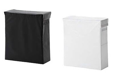 IKEA SKUBB laundry bag with stand, black, white bag Free  &  Fast delivary