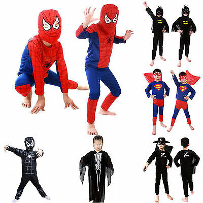 Kids Boys Superhero Spiderman Fancy Dress Christmas Party Cosplay Costume Outfit