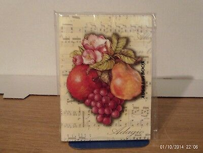 Fruit and Musical Note Blank Address Book - New