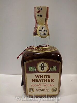 White Heather 8 Years Old Blended Scotch Whisky De Luxe 75 cl