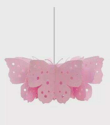 Kids/Girls Large Pink Butterfly Celling Light Lamp Shade Nursery Bedroom