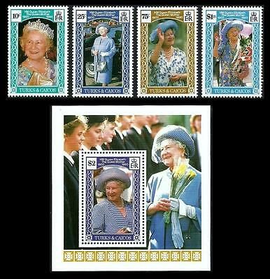Turks & Caicos 1990 Royalty Royal Queen Mother Birthday Mnh