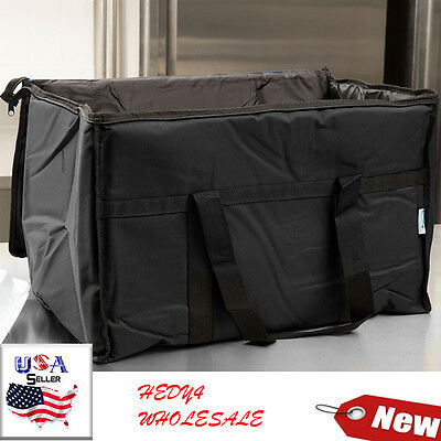 Black Industrial Nylon Insulated Food Delivery Bag Chafer Pan Carrier PAY-LESS