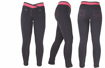 HyPERFORMANCE Brixton Ladies Elasticated Pull On Horse Riding Jodhpurs