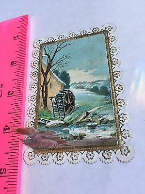 Victorian Paper Lace Pop Up 1875  Christmas Card
