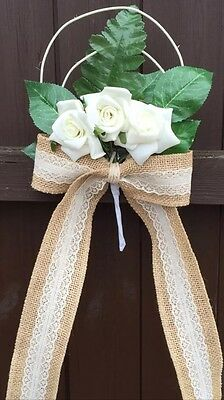 Pew Ends Bows Church Wedding Flowers Decorations Winter