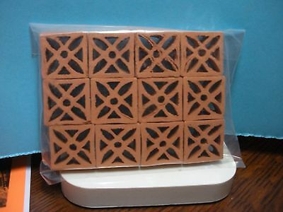 Dollhouse Miniature One Inch Scale Real Terra Cotta Wall Blocks
