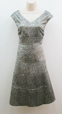 Anne Klein Gold Black Metallic Sleeveless Holiday Cocktail Party Dress New