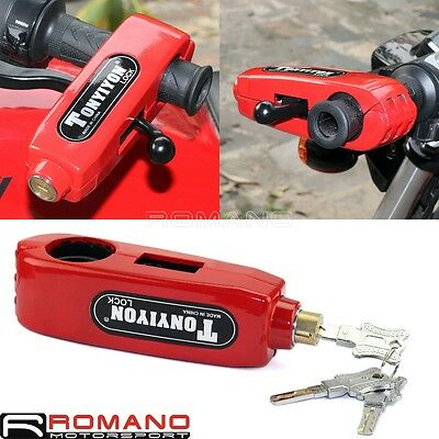 Motorcycle Universal Handlebar Grip Brake Lever Lock Anti-Steal Security Lock