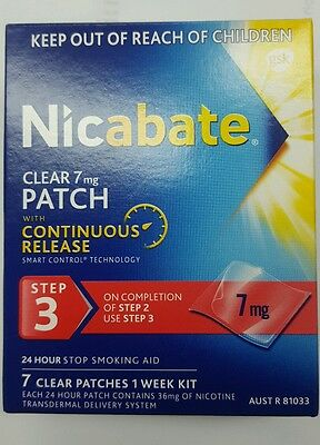 Nicabate clear patch 7mg STEP 3 7pack