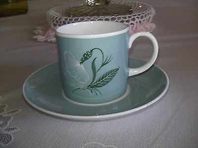 "Susie Cooper England ""Flower Motif""  Demitasse Duo-Coffee Can & Saucer"
