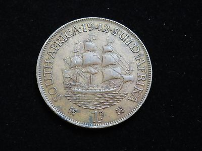 1942 SOUTH AFRICA LARGE 1d PENNY COIN LOT 1017