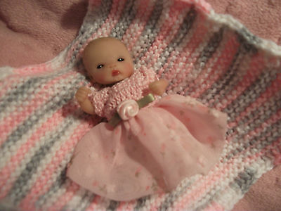 Ooak Partial Sculpt Beautiful Baby Girl Cynthia 3.5'' resale